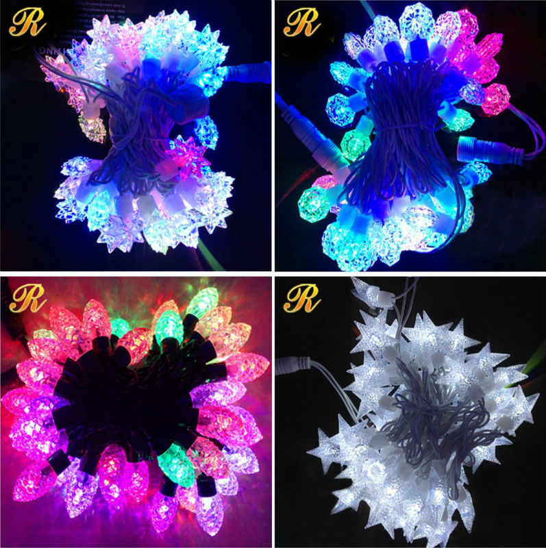 IP65 rubber cable Christmas outdoor light string