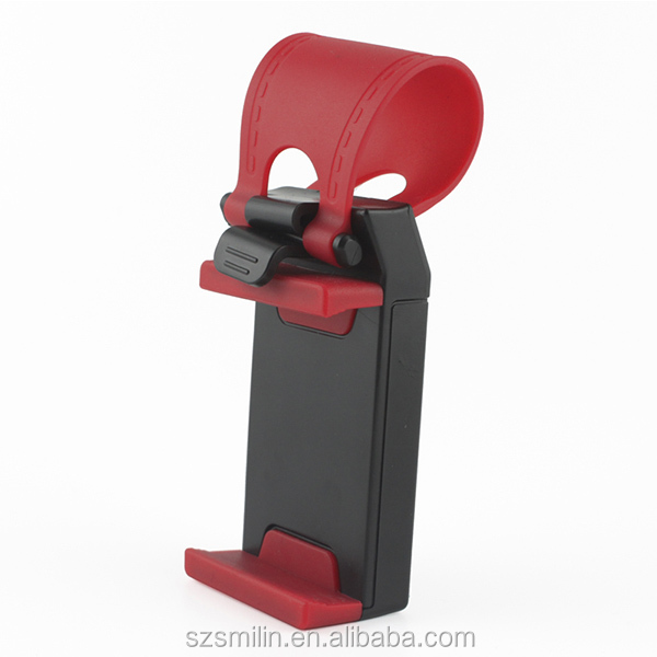 Factory-sale Vehicle Steering Wheel Cell Phone Cradle Smart Clip Phone Holder