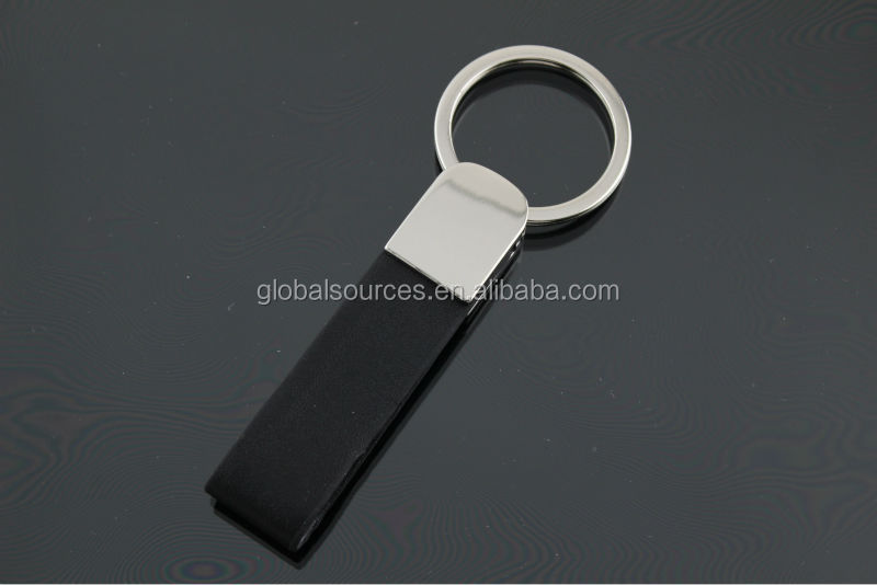 cheapest promotional leather keyring