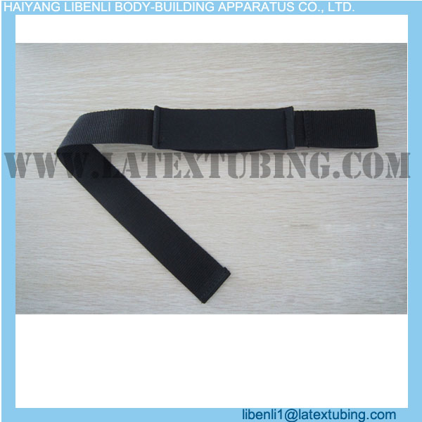 Cotton Weight Lifting Straps with Neoprene Padding on Wrist with Customized Logo