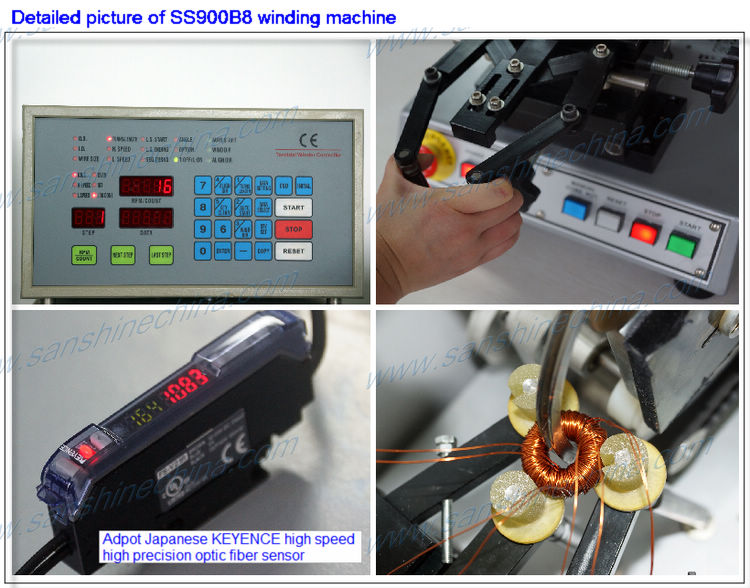 automatic light dimmer toroid coil winding machine(SS900B8 series final OD 20~150mm) replace RUFF toroidal winder