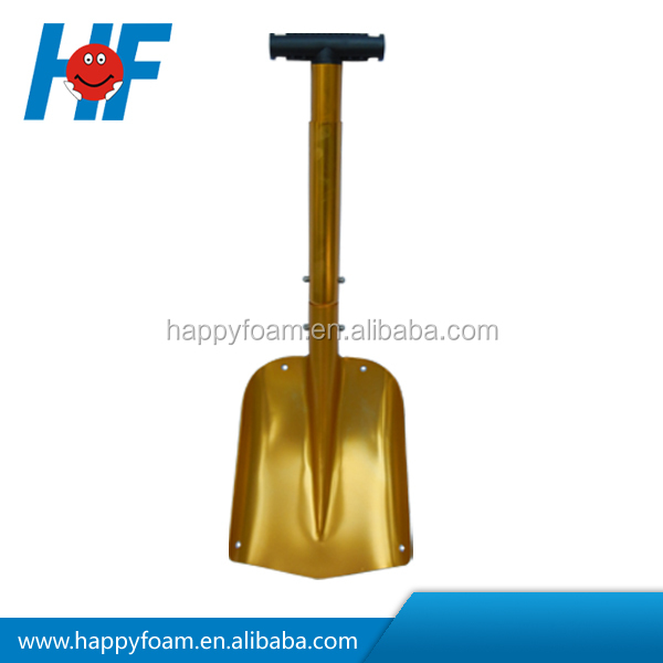 colorful square aluminum snow retracted shovel