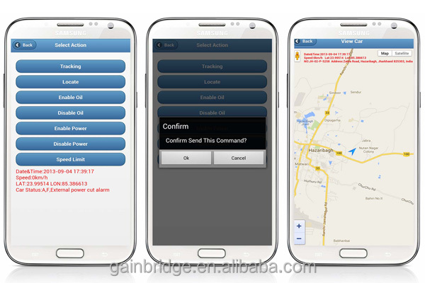 GPS Fleet management software, tracking on smart phone (ios, Android), allow you to try your device on server