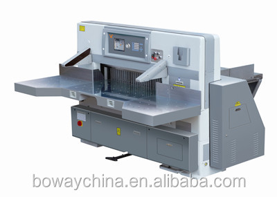 China supplier 8 Program control double guide double hydraulic paper trimmer