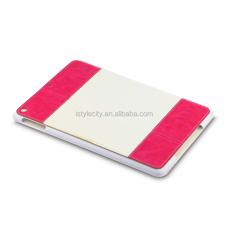 dual color leather case for ipad air tablet pc case factory