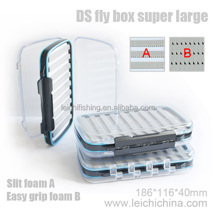 In stock clear plastic waterproof fly box