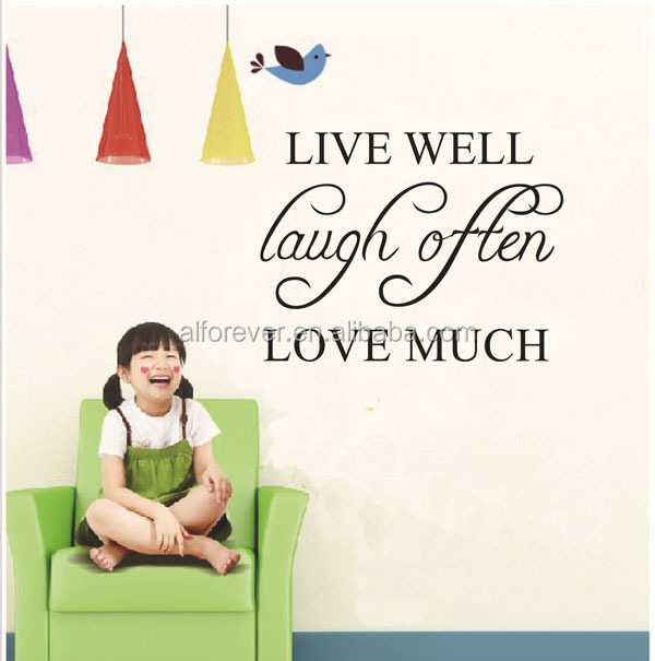 [Alforever]wall sticker quote Live well laugh often love much