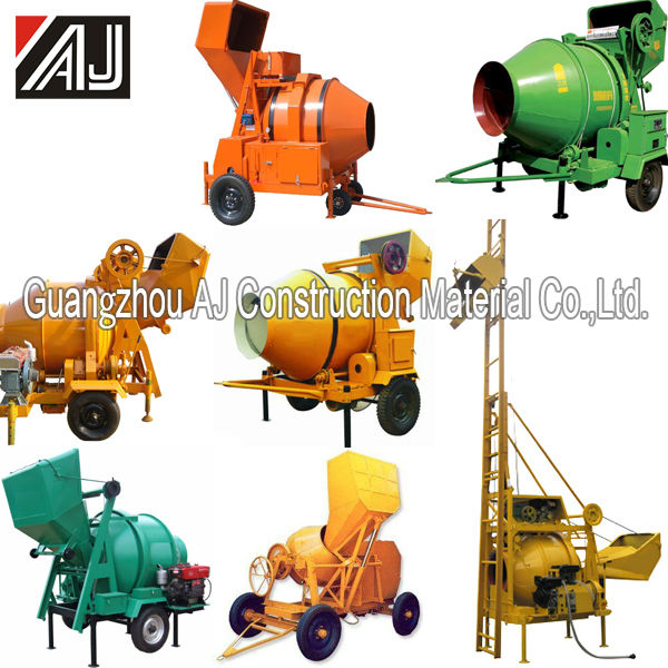 Hot Sale !!!350L Guangzhou JZG350 Diesel Cement Mixer with Steel Wire Rope Hopper Tipping,China Manufacturer