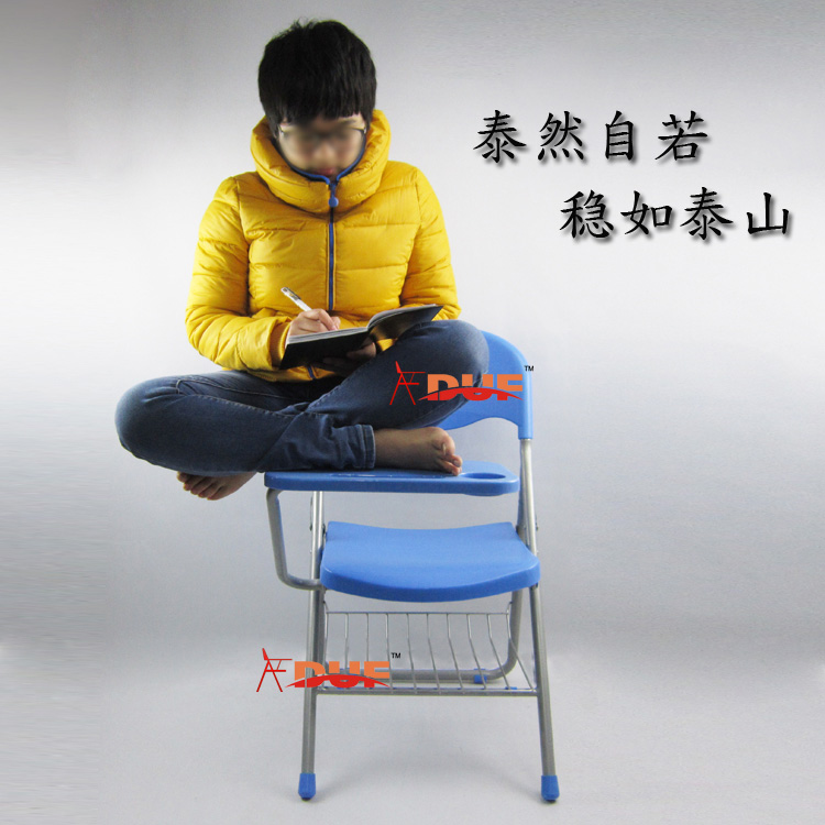 high quality folding chairs with writing board student big tablet