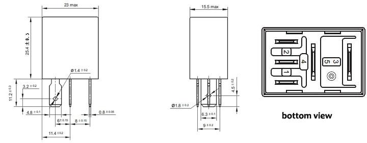 12v 24v 4pin 5pin auto relay toyota denso relay