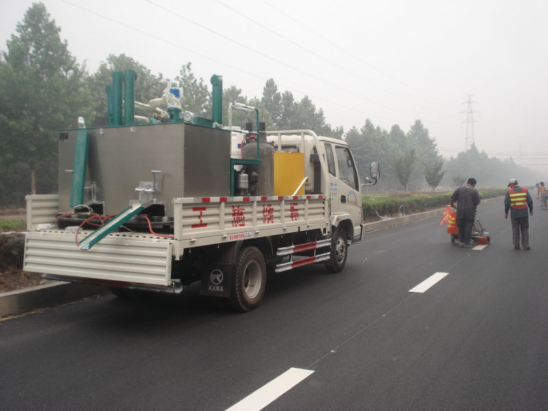 new double drum thermoplastic Kettle for road paint low price
