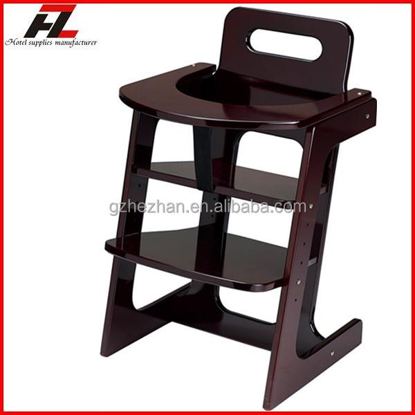Modern High Back Adjustable Baby Chair Wooden Restaurant