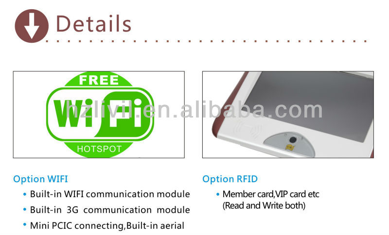 cheapest windows 7 factory price10.1 inch touch screen android pos terminal tablet pos