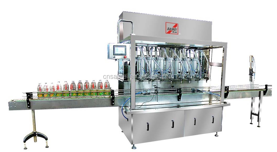 full-automatic straight type piston filling machine