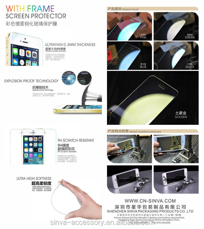Japanese glass and glue anti glare anti radiation titanium alloy tempered glass screen film for iPhone 6