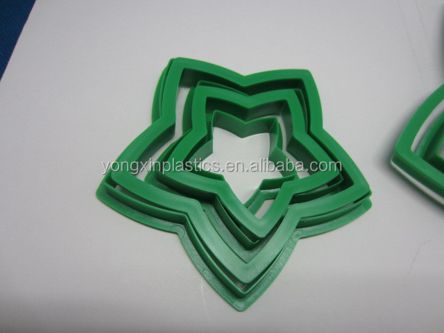plastic star cooky cake mould