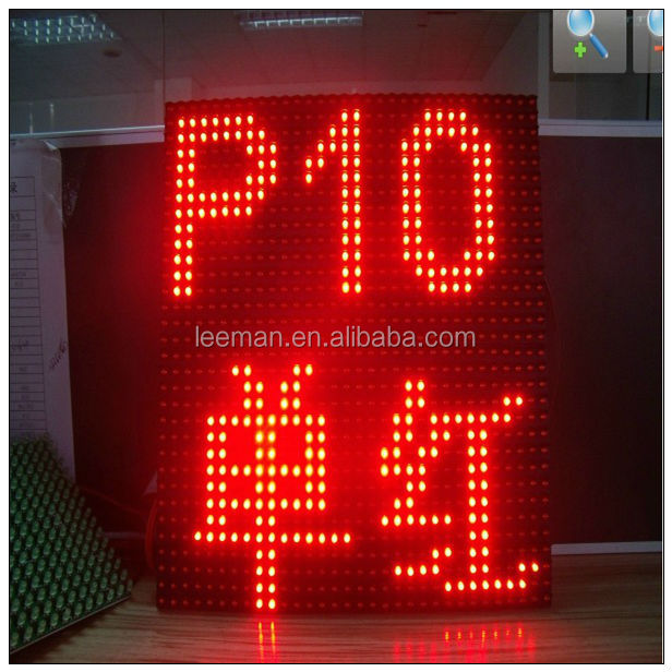Free shipping leeman P10 LED module led running message display alibaba express in portuguese