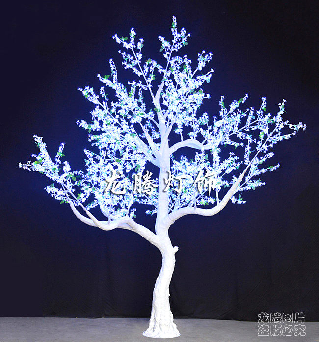 Waterproof Acrylic Crystal White Outdoor Lighted Trees