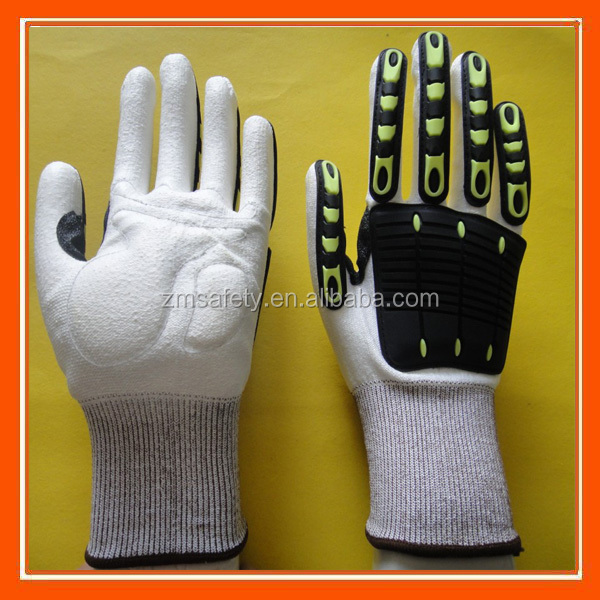 High Impact Anti Cut Resistant Gloves With TPR Protection