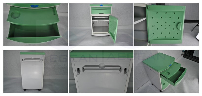 AG-BC005 ABS material one drawers hospital bedside cabinets