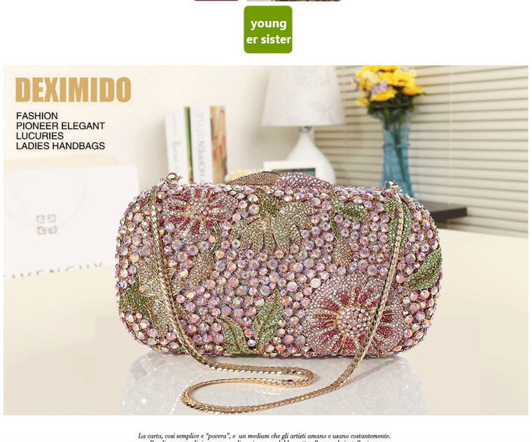 Exporters and manufacturers of purses with crystal