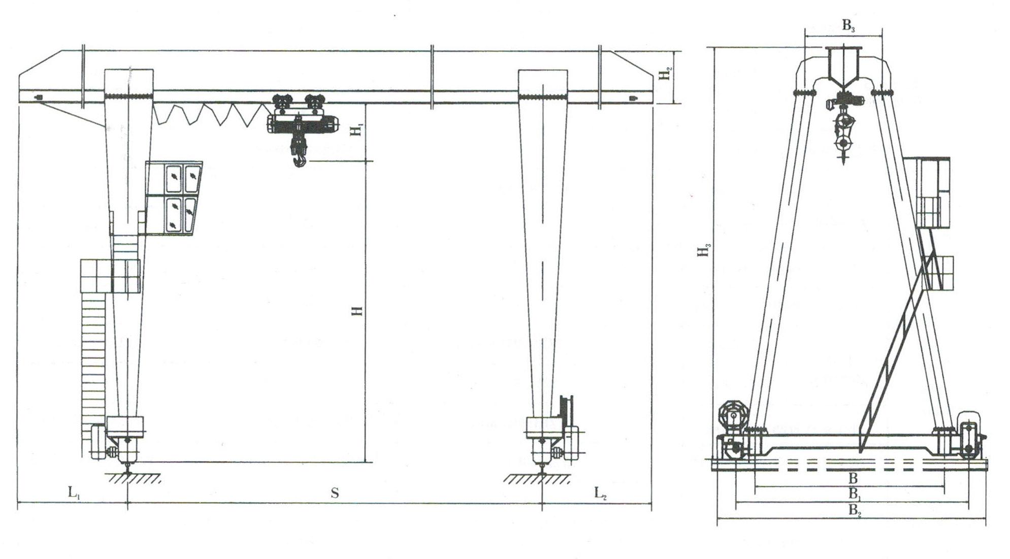 3ton to 32ton truss structure gantry crane with electric hoist 3ton to 32ton truss structure gantry crane with electric hoist pooptronica Images