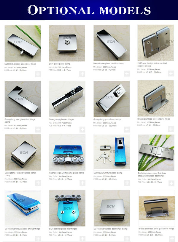 Stainless Steel Professional Design Hanging Bathroom Hardware Glass Sliding Door Fittings