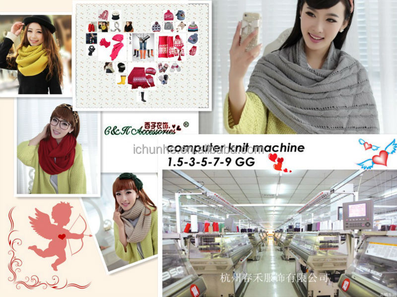Knitted scarf factory