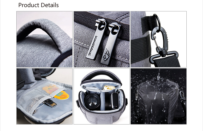 Professional trendy waterproofdslr camera bag