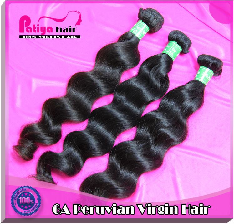 High feedback score top selling Virgin Peruvian Hair Natural Wave Human Hair Extensions