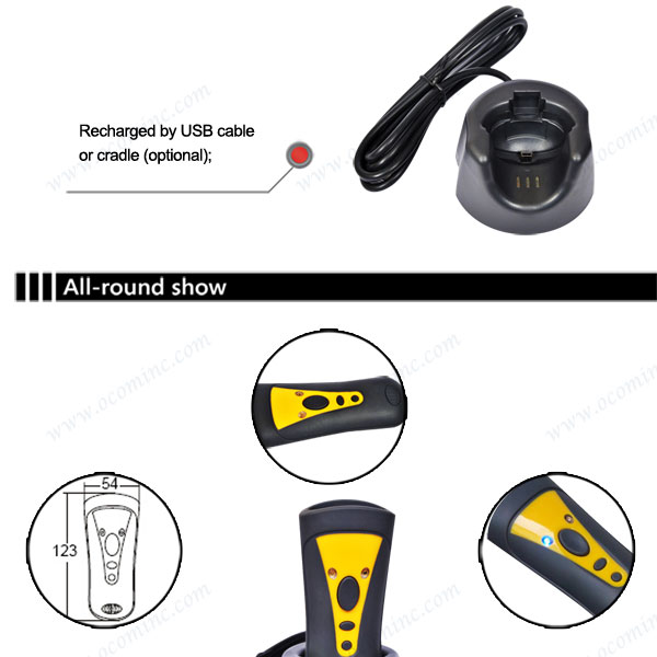 Mini Portable 2D Wireless Barcode Scanner Bluetooth