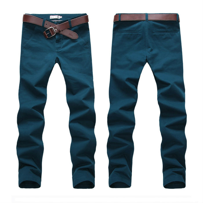 Stylish slim fit mens leisure chino pants latest style men pants