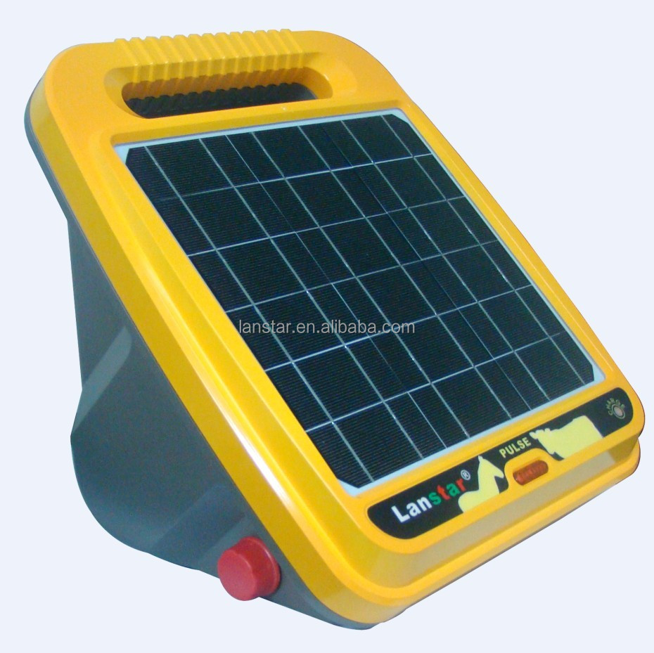 Solar electric fence energizer for sheep