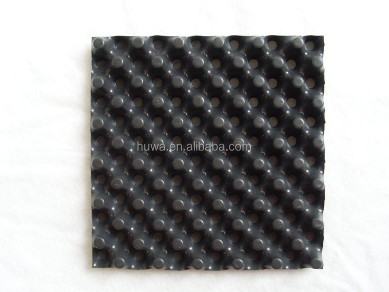 lightweight roofing materials cavity garden dimple strip root barrier drainage cell sheet board