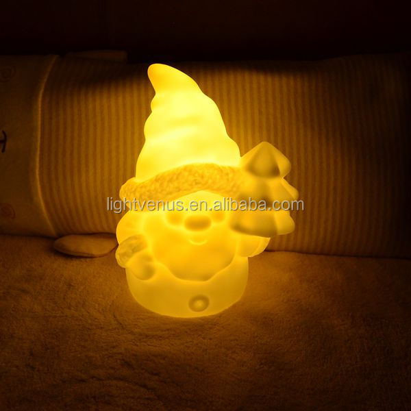 small night light Santa night lamp gift for Christmas