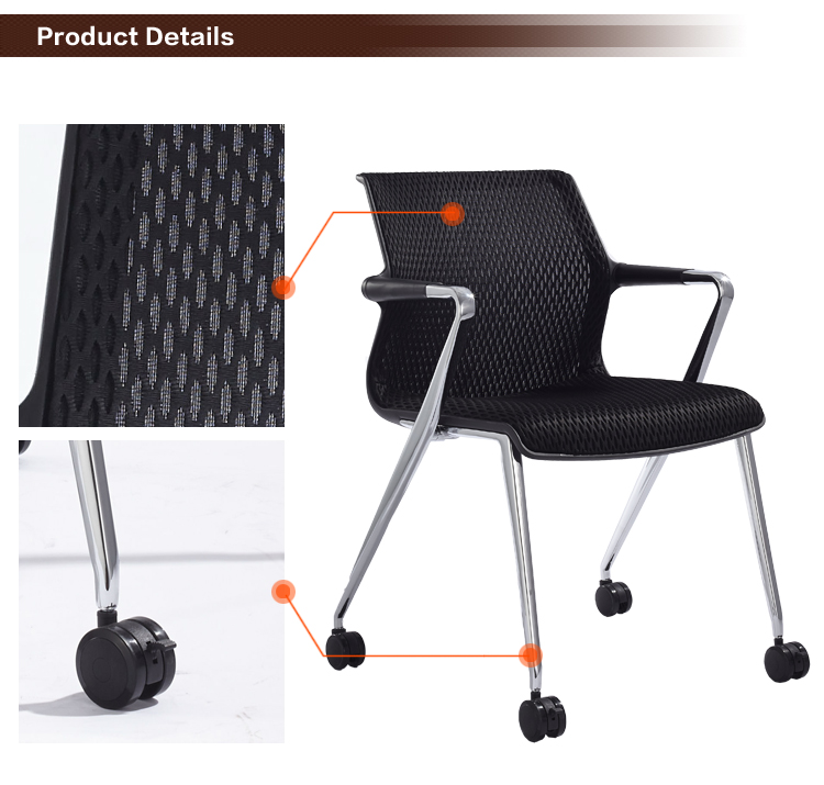 B298-2 Office leisure chair with wheel castors