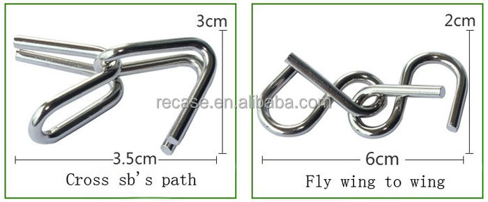 High quality 9 ring for adults suits Intelligence metal buckle with packing
