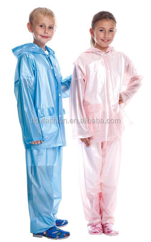 Breathable Women Clear Plastic Fashion Rain Suit