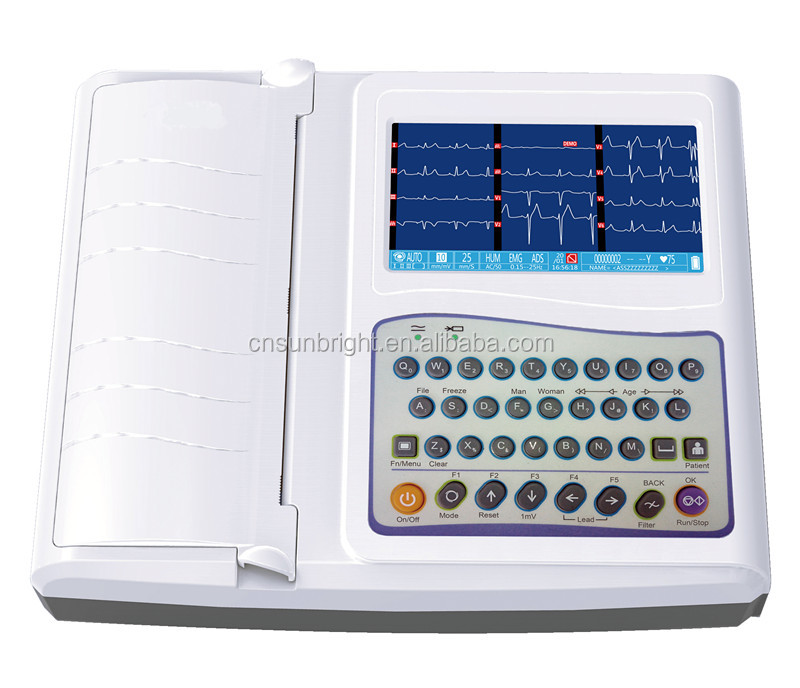electrocardiogram machine Handheld 12 Channel ECG
