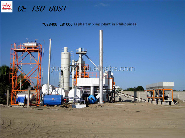 LB1000 Asphalt Mixing Plant 80t/h working in Philippines