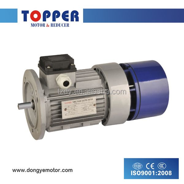 special type YEJ2 series electromagnetic brake motors with hand release with double side output shaft