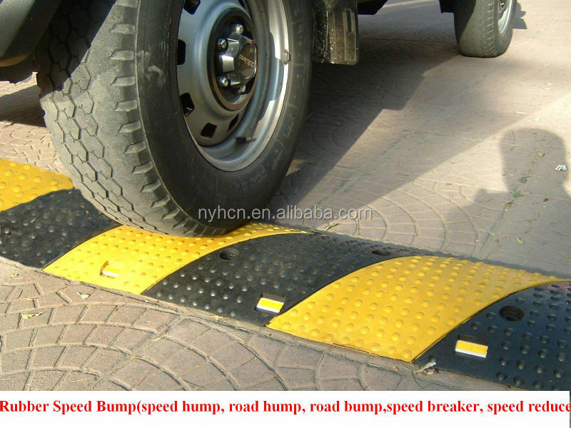 Reflective Roadway Safety Rubber Speed Bump
