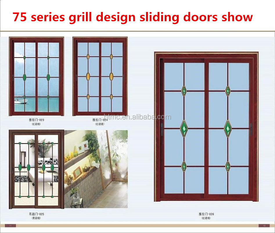High end american style curved glass sliding door buy
