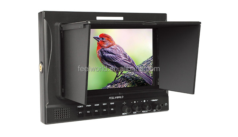 Camera monitor with battery 7 inch IPS Screen 1280x800 seamless switch 2xSDI
