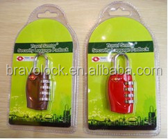 Luggage Combination Padlock TSA with Master Key for Customs