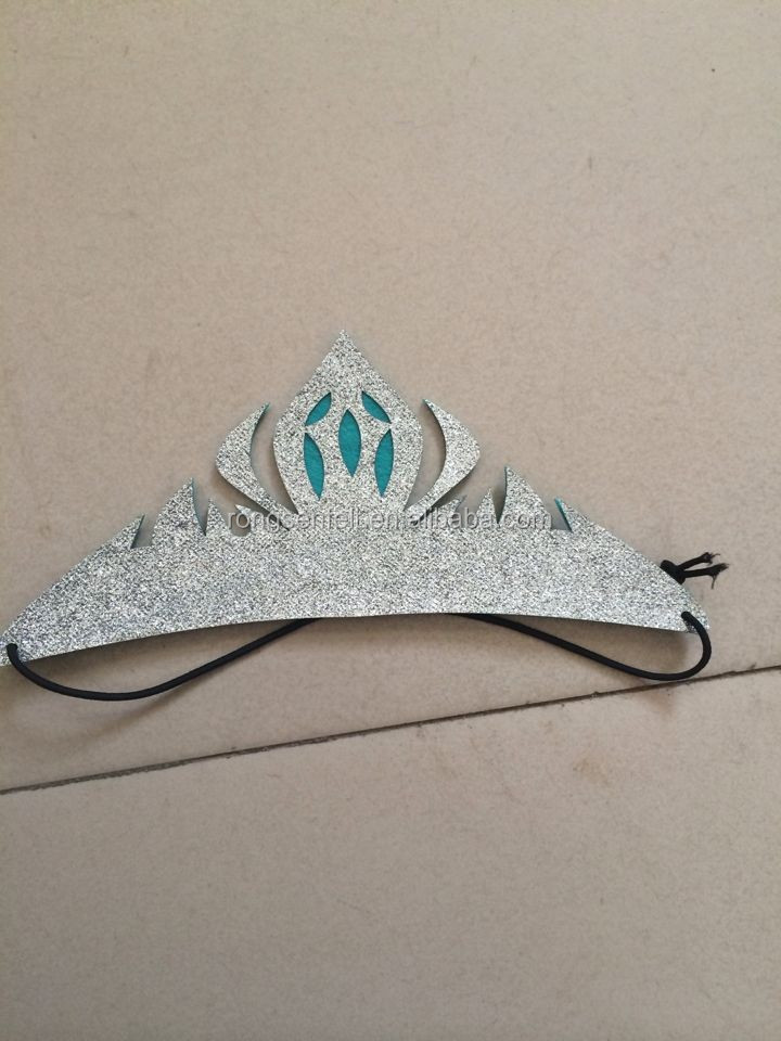 felt birthday party crown