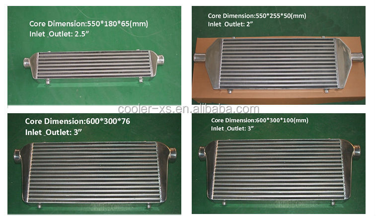 600*300*76 core bar and plate front mount universal Intercooler