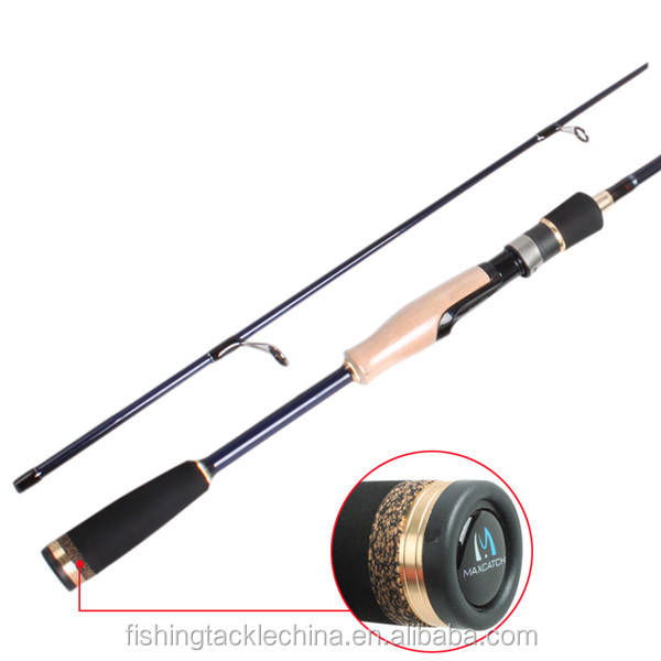 Fuji guides and reel seat carbon spinning fishing rod for Bottom fishing rods