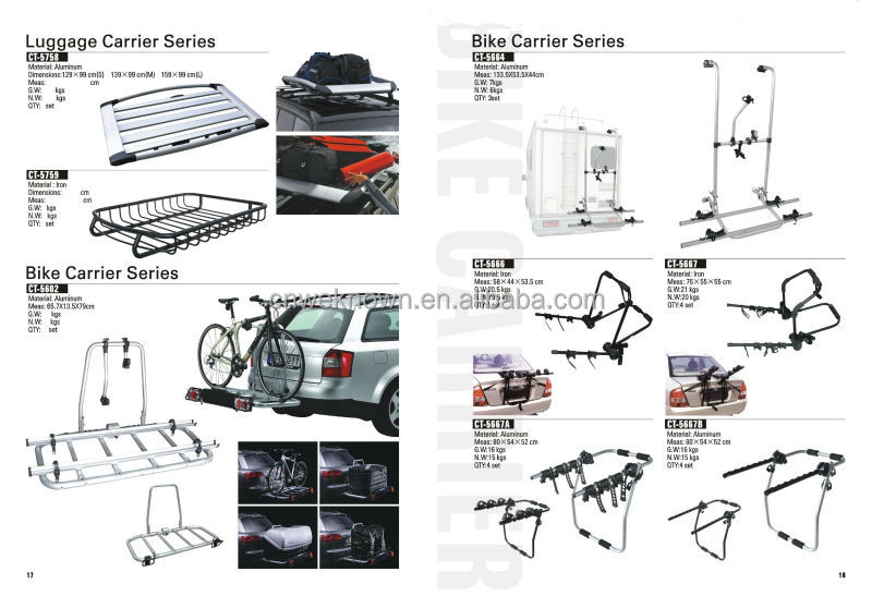 Rear bike carrier