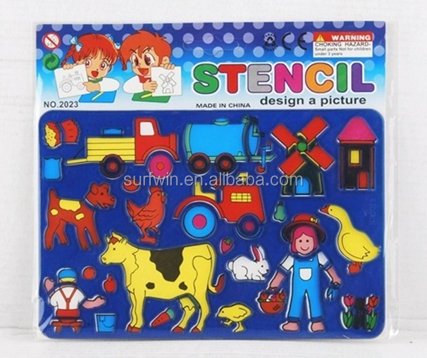 Children DIY drawing stencil/template sets